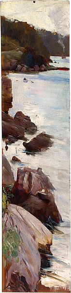 Arthur STREETON Sirius Cove I live very close to this spot and love to go walking around the Sydney foreshores.