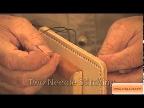 Technique de couture du cuir à une aiguille et technique à deux aiguilles (couture sellier)