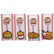 Porte-clefs en PVC collection Fast Food