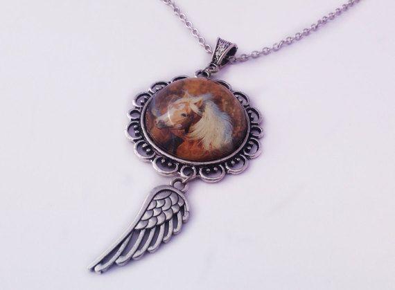 Pegasus Cameo Pendant Horse Cameo Necklace by JewelleryByKassandra