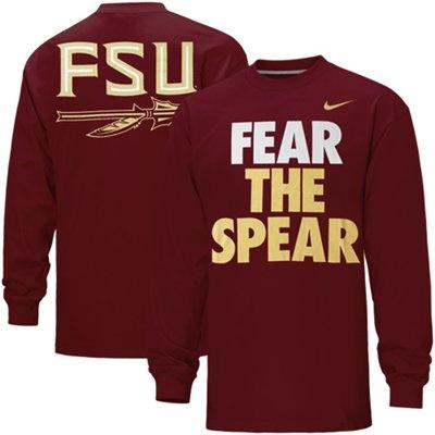 Nike Florida State Seminoles (FSU) Fear the Spear Long Sleeve T-Shirt - Garnet