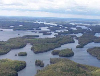 A better look at the amazing amount of islands to explore in Temagami