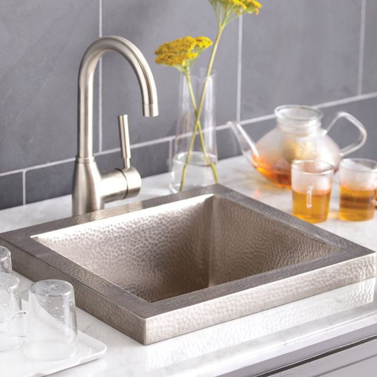 Native Trails Manhattan CPS32 Drop In Bar Sink Brushed Nickel   CPS532