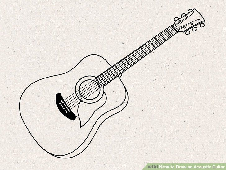 How To Draw A Guitar Guitar Drawing Guitar Illustration Guitar Sketch