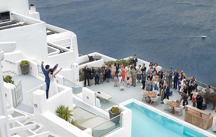 George & Vivi's Wedding in Santorini, Imerovigli http://www.xstudio.gr/favorites/ #BelvedereHotel #weddinginsantorini #santoriniweddings