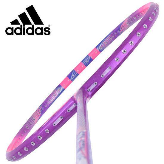 adidas Badminton Racket STILISTIN W5 Pink Purple Racquet String with Cover  #adidas