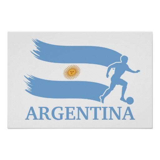 Argentina Soccer Flag Poster