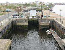 Tees Barrage - barge lock