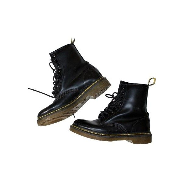 Dr. Martens 1460 Combat BLACK Boots (870 ARS) ❤ liked on Polyvore featuring shoes, boots, kohl boots, black shoes, dr martens boots, dr martens shoes and dr martens footwear
