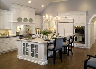 Perfect: Kitchens Photo, Beautiful Kitchens, Dreams Kitchens, Chairs, Design Ideas, Color, Kitchens White, White Cabinets, Blue And White