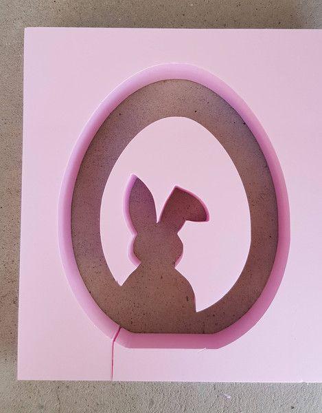 Weiteres - Beton Giessform - Ei mit Hase  -  35 cm  - ein Designerstück von BIF-Hermes bei DaWanda
