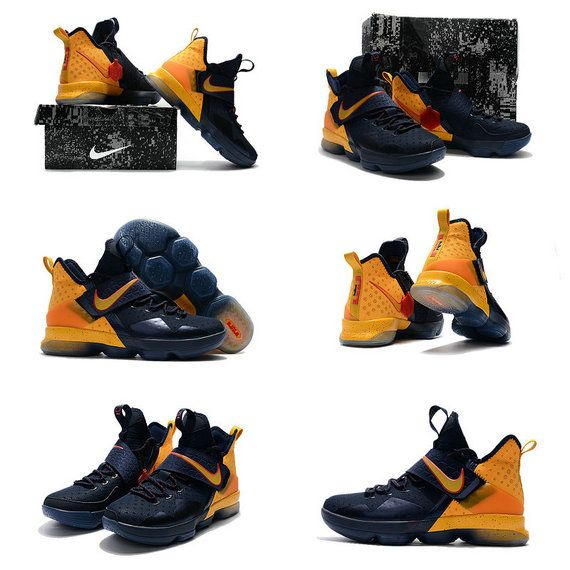 f7ccfb95e009 April 2017 Nike LeBron 14 XIV New Cavs Colorways Midnight Navy Metallic Gold