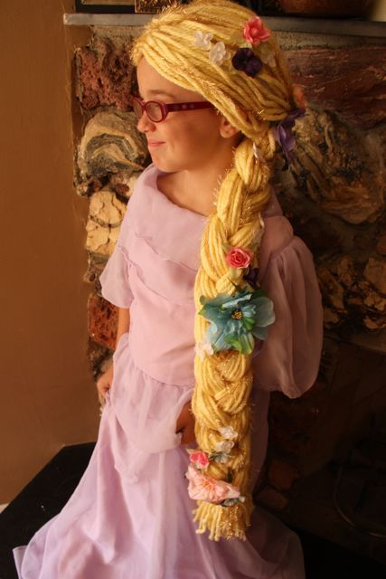 how to make a yarn wig without sewing