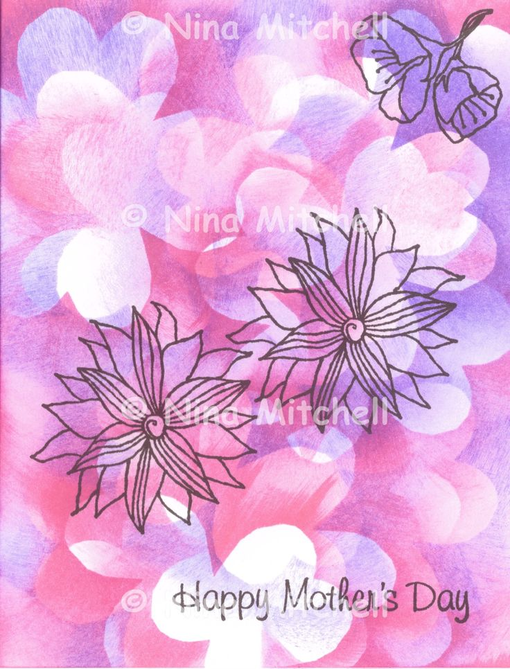 NM cards - Pink flower Mothers Day 2
