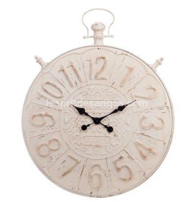 Les 107 meilleures images propos de d coration shabby chic l 39 esprit des - Horloge gousset murale ...