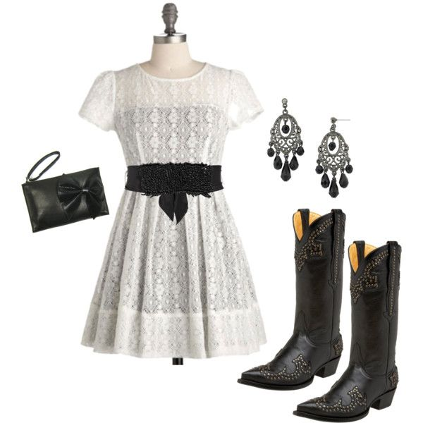 cowboy chic, created by missredheadgirl.. very cute!