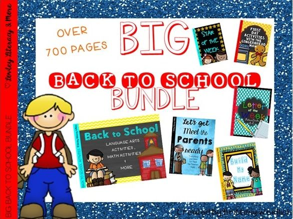 This resource has enough back to school activities to last you at least a week. I have bundled the Let's Get Meet the Parents Ready, First Day Activities with the Gingerbread Man, the Back to School Unit, Letter of the Week Cards, Build My Name and Star of the Week.