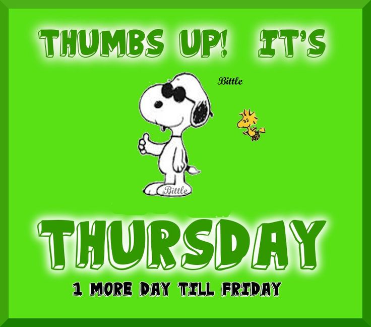 Snoopy Thumbs up! It's Thursday, 1 day till Friday