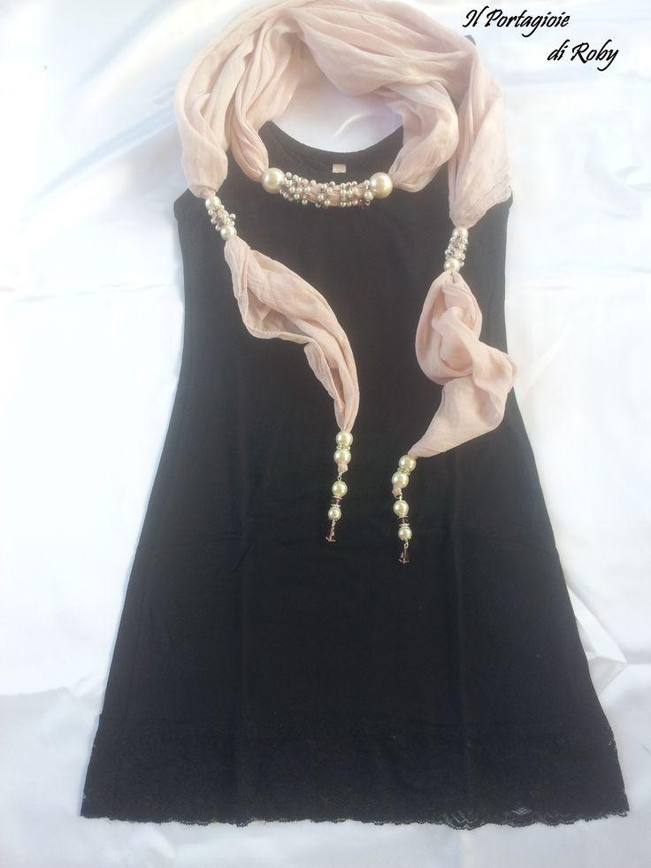 Pashmina gioiello rosa antico