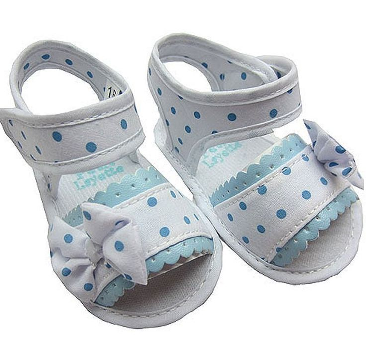 Sandalia para bebe niña lunares - cisne blanco moda infantil
