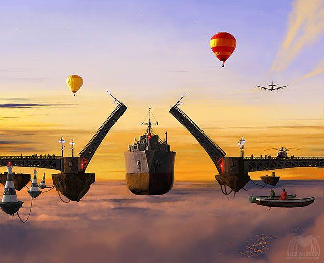 Romantic paintings of Alex Andreyev