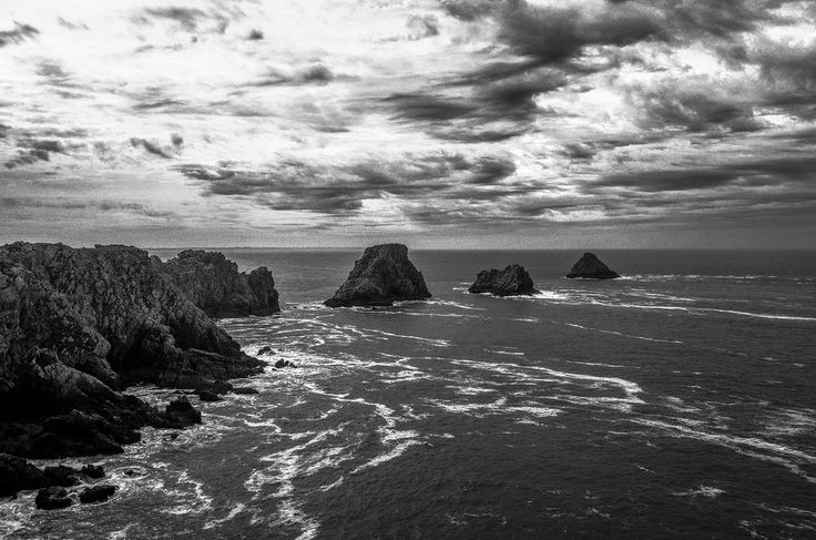 """anntonnii posted a photo: The beautiful and rugged Pointe de Penhir with the """"Les Tas de Pois"""" (""""Pile of Peas"""")"""