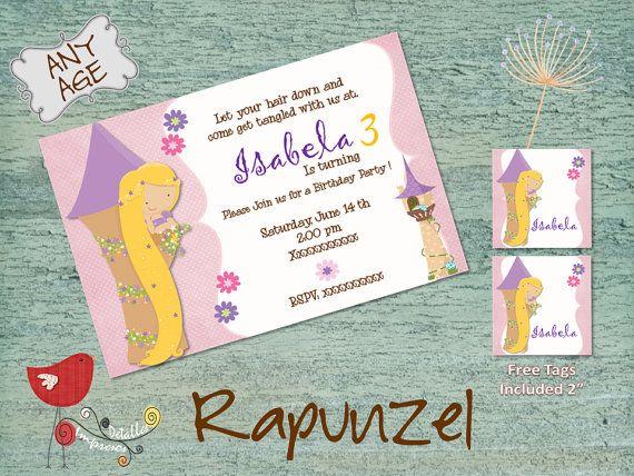 Rapunzel Invitation Princess Rapunzel Party por DetallesImpresosCo