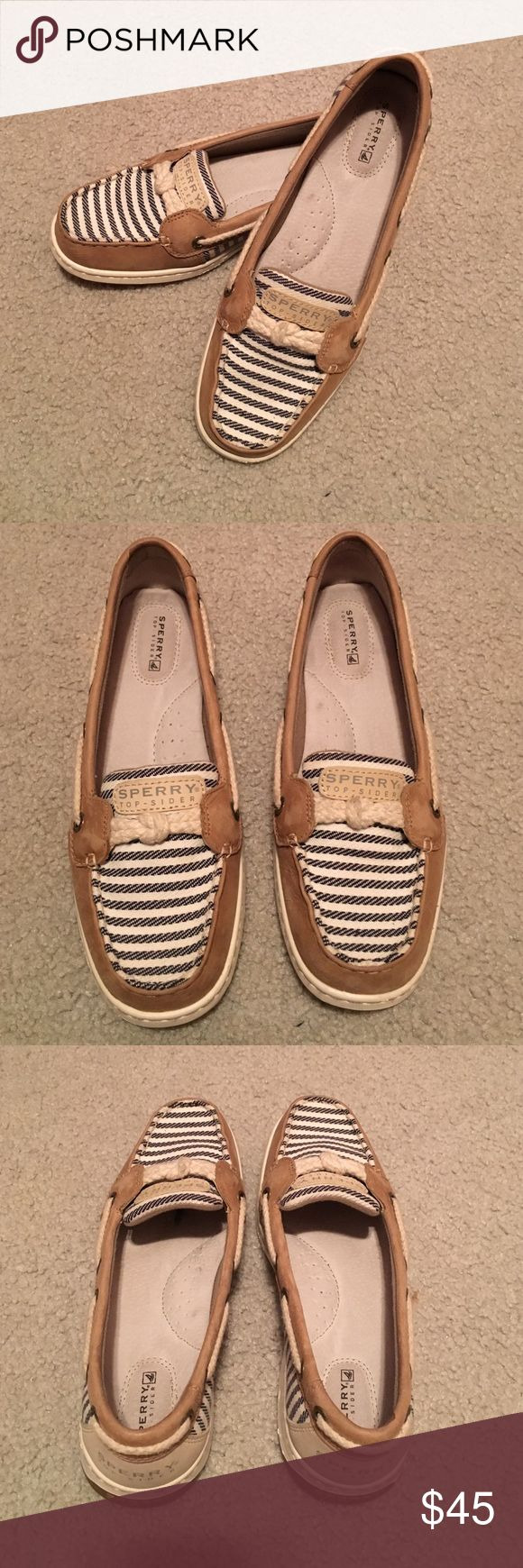 Women's Sperrys Super cute Sperry shoes for women! In great condition. Purchased and determined they were just a bit tight for me. Would recommend for a 7.5. Sperry Shoes Flats & Loafers