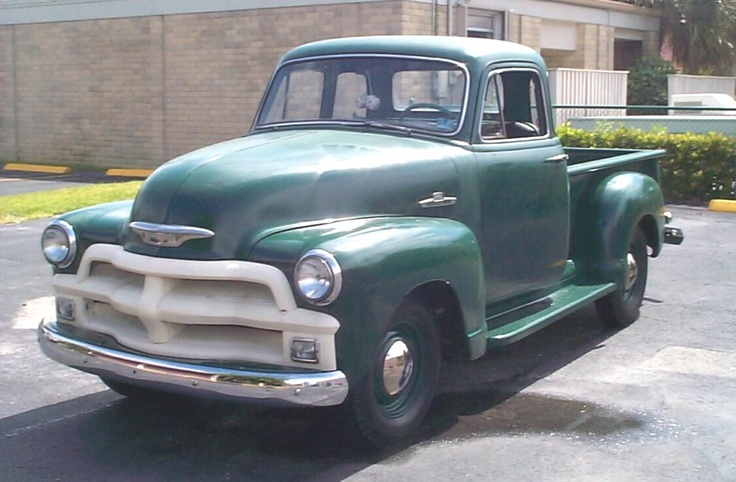 1955 Chevy Pickup Truck - mines forestry green instead