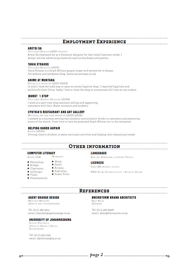 98 best Resume images on Pinterest Page layout, Career and Charts - example resume for waitress