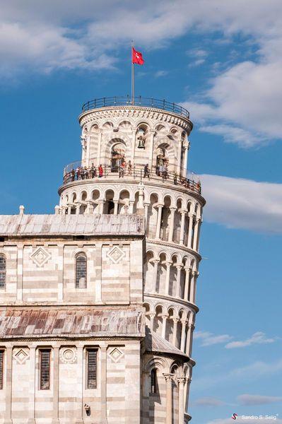 Schiefer Turm von Pisa' von Sandro S. Selig