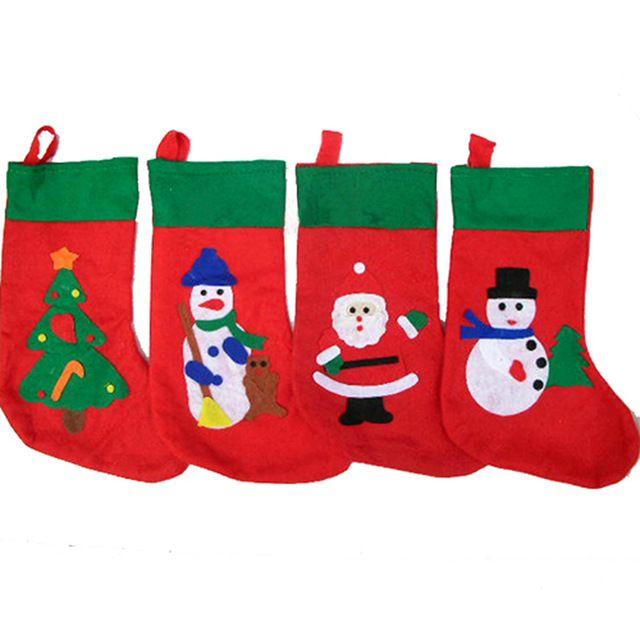24*34cm 크리스마스 장식 양말 산타 양말 크리스마스 선물 크리스마스 트리, 산타 눈사람, 산타 클로스 패턴 무료 shippingrt08