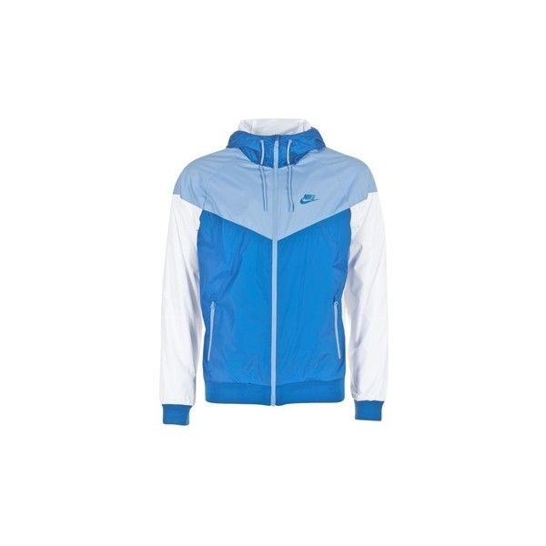 Nike WINDRUNNER Windbreakers ($97) ❤ liked on Polyvore featuring men's fashion, men's clothing, men's activewear, men's activewear jackets, blue and nike