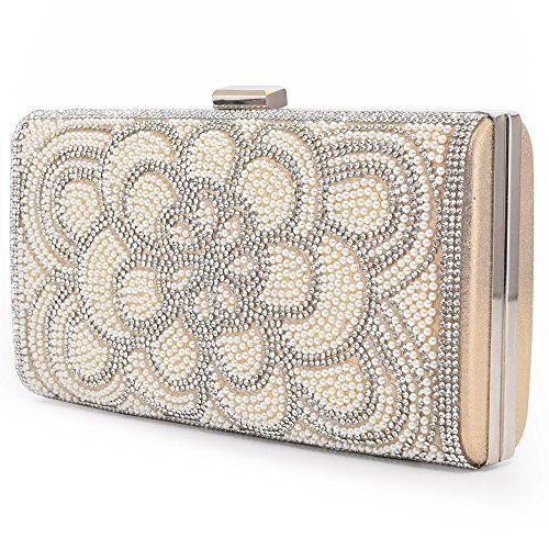 Women's Clutch Evening Bag Elegant Artificial Pearls Bead...  https://www.amazon.com/dp/B07BB…   Women's clutches & evening bags, Evening  clutch bag, Crystal handbag