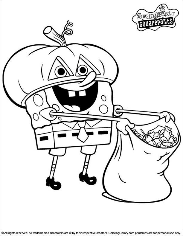 spongebob coloring page - Coloring Pages Spongebob Halloween