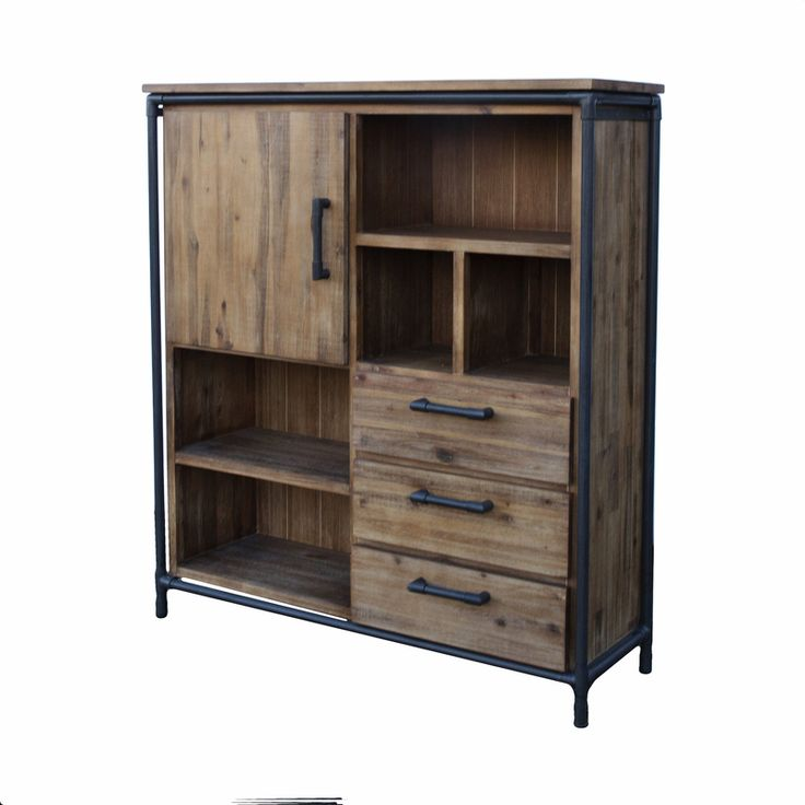 The Workshop Highboard 1 Door/3 Drws, 5 Niches from LH Imports is a unique home decor item. LH Imports Site carries a variety of Workshop items.