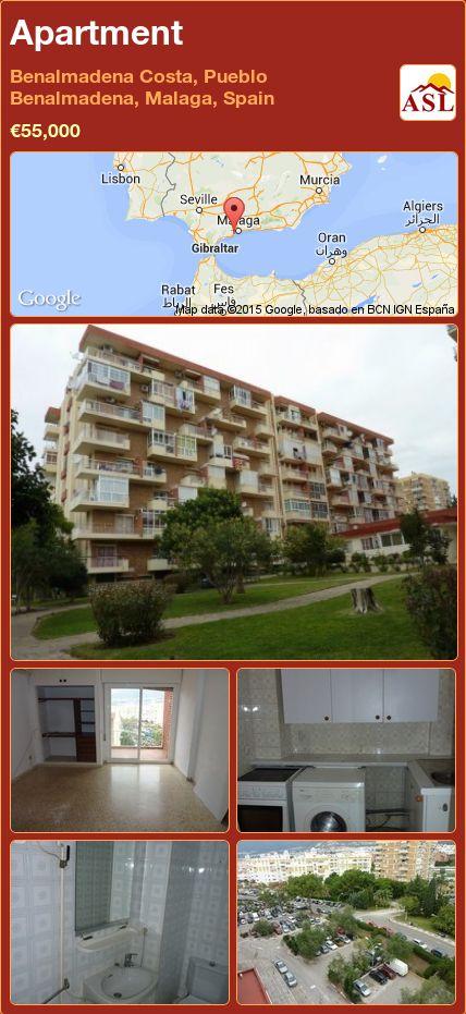 Apartment in Benalmadena Costa, Pueblo Benalmadena, Malaga, Spain ►€55,000 #PropertyForSaleInSpain