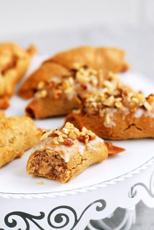 Bezglutenowe i bezmleczne rogale à la marcińskie z ciasta półfrancuskiego (4 wersje)