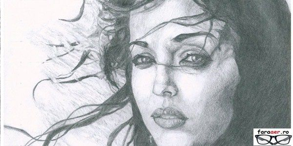 creioane desen - desene simple facute in creion - portrete si caricaturi in creion si peisaje desenate din creion portret fete_wm