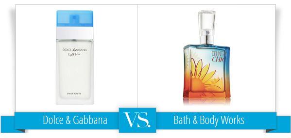 Splurge vs. Steal: Dolce & Gabbana Light Blue Perfume vs. Bath & Body Works Country Chic