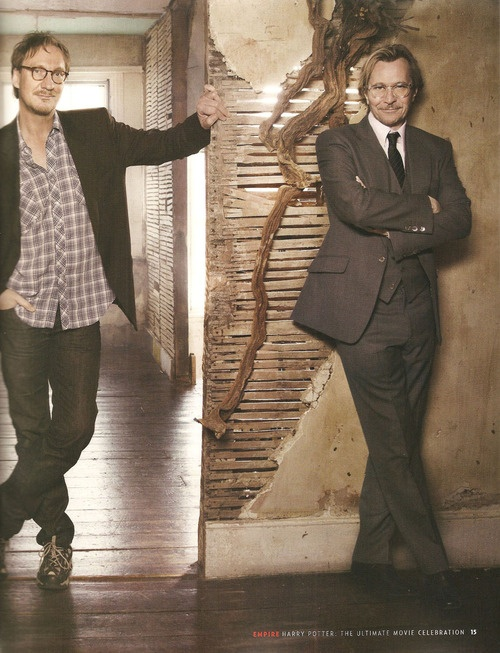 David Thewlis and Gary Oldman who play Remus Lupin and Sirius Black. Love these guys. Such great friends in the movies