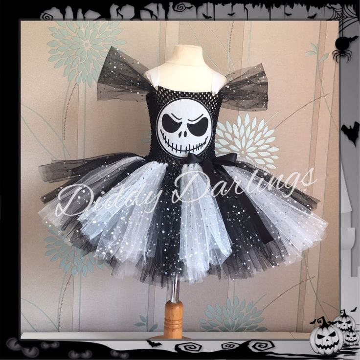 Sparkly Jack Skellington Tutu Dress Costume Halloween Nightmare Before Christmas #DiddyDarlings #CasualFormalParty