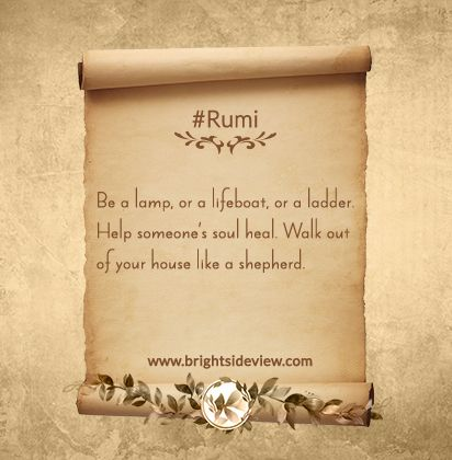 #Rumi Short Quotes About Life.