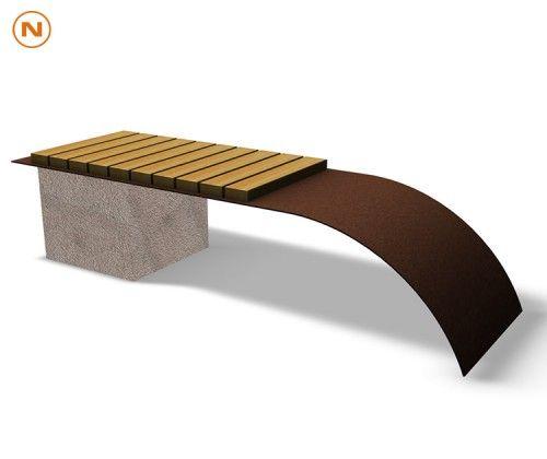 guyon banquette bois mimesi 4530 mobilier urbain. Black Bedroom Furniture Sets. Home Design Ideas
