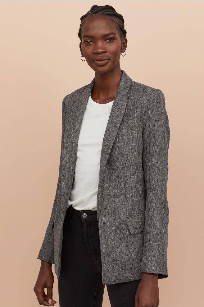 b56d9d4da26f H&M Straight-cut Jacket - Black in 2019   MY WISH LIST   Blazer ...