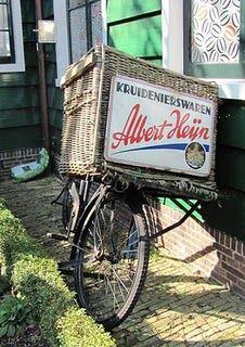 Vintage Albert Heijn bicycle basket - Dutch grocery giant