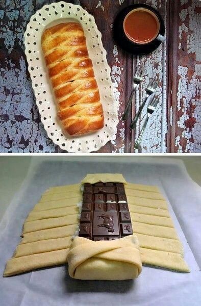 Treccia al cioccolato