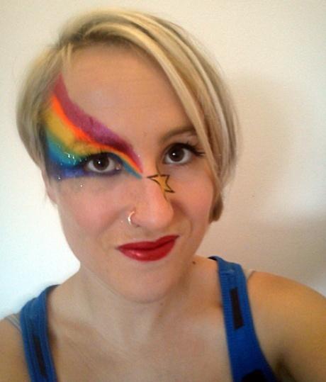 Rainbow face // I need a reason to do this.