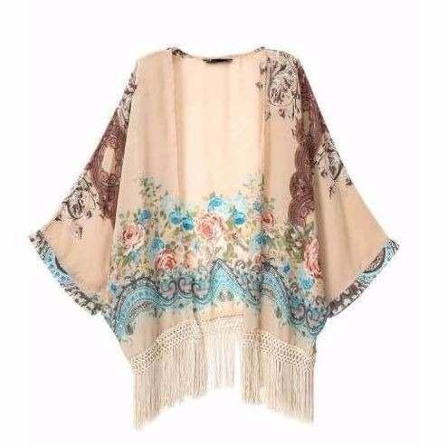 kimono de franjas feminino importado