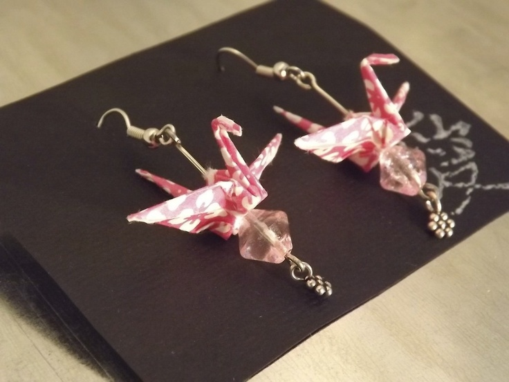 Pink Dento Crane Earrings, $19.00: Cranes Earrings, Dento Cranes, Pink Dento